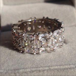 5.2 Carat White Sapphire Ring